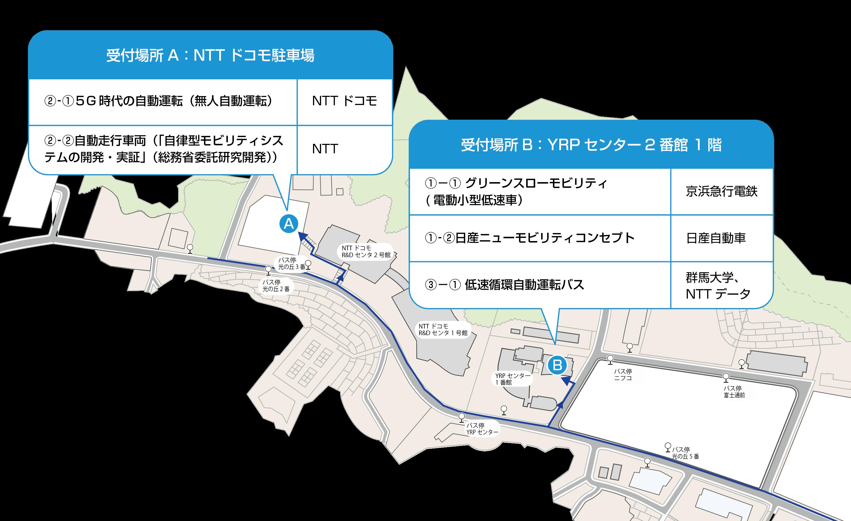 屋外(公道)デモンストレーション受付整理券配布場所